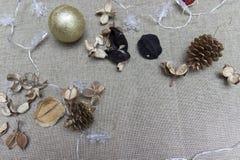Διακοσμήσεις διακοπών Χριστουγέννων Στοκ εικόνες με δικαίωμα ελεύθερης χρήσης