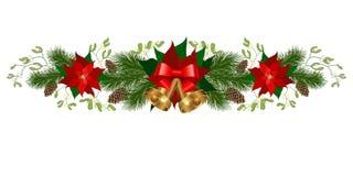 Διακοσμήσεις διακοπών Χριστουγέννων Ελεύθερη απεικόνιση δικαιώματος