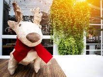 Διακοσμήσεις και τάρανδος διακοπών Χριστουγέννων Στοκ φωτογραφία με δικαίωμα ελεύθερης χρήσης
