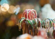 Διακοσμήσεις και φωτισμοί Χριστουγέννων στοκ φωτογραφίες