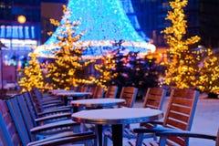 Διακοσμήσεις και χιόνι Χριστουγέννων στο Βερολίνο Στοκ Εικόνα