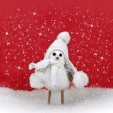 Διακοσμήσεις και χιόνι Χριστουγέννων στοκ εικόνες