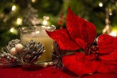 Διακοσμήσεις κεριών Χριστουγέννων Στοκ Εικόνες