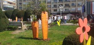 Διακοσμήσεις Πάσχας στο τετράγωνο ένωσης Timisoara Ρουμανία για τις καθολ στοκ εικόνες με δικαίωμα ελεύθερης χρήσης