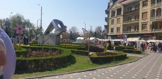 Διακοσμήσεις Πάσχας στο τετράγωνο ένωσης Timisoara Ρουμανία για τις καθολ στοκ φωτογραφία με δικαίωμα ελεύθερης χρήσης