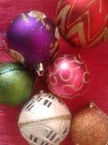 Διακοσμήσεις παιχνιδιών Χριστουγέννων υποβάθρου Στοκ Εικόνα