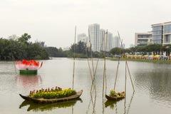 Διακοσμήσεις στην πόλη του Ho Chi Minh Στοκ εικόνα με δικαίωμα ελεύθερης χρήσης