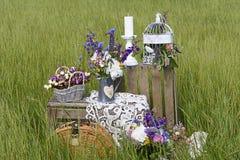 Διακοσμήσεις στο αγροτικό ύφος Στοκ Εικόνα