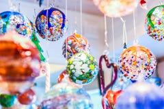 Διακοσμήσεις σφαιρών γυαλιού Murano Στοκ Εικόνες
