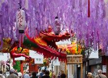 Διακοσμήσεις φεστιβάλ Gracia στη Βαρκελώνη Στοκ Φωτογραφία