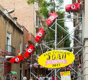 Διακοσμήσεις φεστιβάλ Racia στη Βαρκελώνη Στοκ εικόνες με δικαίωμα ελεύθερης χρήσης