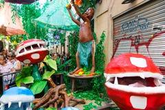Διακοσμήσεις φεστιβάλ Racia στη Βαρκελώνη Στοκ φωτογραφία με δικαίωμα ελεύθερης χρήσης