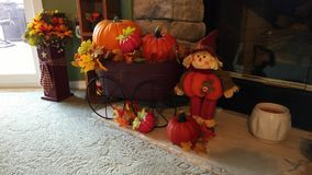Διακοσμήσεις φθινοπώρου στο σπίτι Décor απόθεμα βίντεο