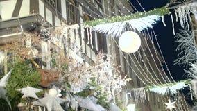 Διακοσμήσεις χειμερινών διακοπών απόθεμα βίντεο