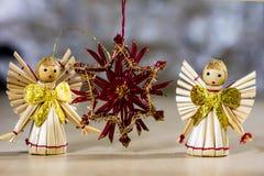 Διακοσμήσεις Χριστουγέννων για τα Χριστούγεννα Διακοσμήσεις Χριστουγέννων φιαγμένες από Στοκ Φωτογραφία