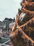 Διακοσμήσεις Χριστουγέννων, Δεκέμβριος σε Brasov στοκ εικόνες