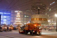 Διακοσμήσεις Χριστουγέννων και στο Βερολίνο Στοκ Εικόνες