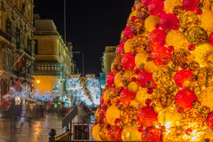 Διακοσμήσεις Χριστουγέννων στην είσοδο Valletta, Μάλτα στοκ φωτογραφία με δικαίωμα ελεύθερης χρήσης