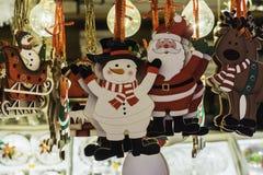 Διακοσμήσεις Χριστουγέννων στην πώληση Στοκ φωτογραφίες με δικαίωμα ελεύθερης χρήσης
