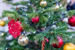 Διακοσμήσεις Χριστουγέννων στη Μόσχα το Δεκέμβριο στοκ εικόνα