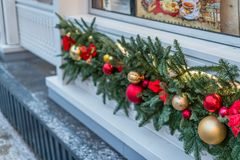 Διακοσμήσεις Χριστουγέννων στη Μόσχα το Δεκέμβριο στοκ εικόνα με δικαίωμα ελεύθερης χρήσης