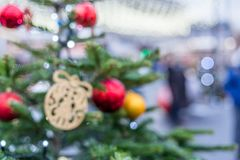 Διακοσμήσεις Χριστουγέννων στη Μόσχα το Δεκέμβριο στοκ φωτογραφίες