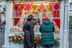 Διακοσμήσεις Χριστουγέννων στη Μόσχα το Δεκέμβριο στοκ φωτογραφία