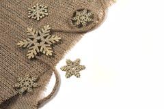Διακοσμήσεις Χριστουγέννων στο αναδρομικό ύφος που απομονώνεται στο άσπρο υπόβαθρο Στοκ Εικόνες