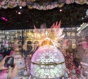 Διακοσμήσεις Χριστουγέννων στο κατάστημα LE Printemps, Παρίσι, Γαλλία Στοκ φωτογραφία με δικαίωμα ελεύθερης χρήσης