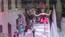 Διακοσμήσεις Χριστουγέννων στο κατάστημα LE Printemps, Παρίσι, Γαλλία Στοκ Εικόνες