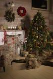 Διακοσμήσεις Χριστουγέννων στο δωμάτιο Στοκ φωτογραφίες με δικαίωμα ελεύθερης χρήσης