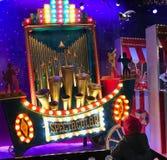 Διακοσμήσεις Χριστουγέννων στο vitrine παραθύρων Galeries Lafayet Στοκ εικόνα με δικαίωμα ελεύθερης χρήσης