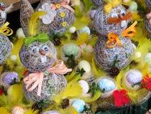 Διακοσμήσεις Χριστουγέννων της μεγάλης νύχτας, ευτυχές Πάσχα bunny Πάσχα Στοκ φωτογραφίες με δικαίωμα ελεύθερης χρήσης
