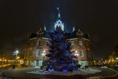 Διακοσμήσεις Χριστουγέννων του Δημαρχείου Stratford Στοκ Εικόνες