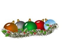 διακοσμήσεις Χριστουγέννων διανυσματική απεικόνιση