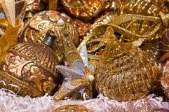 Διακοσμήσεις χριστουγεννιάτικων δέντρων, χρυσό κλειδί Στοκ φωτογραφίες με δικαίωμα ελεύθερης χρήσης