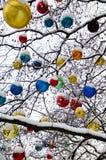 Διακοσμήσεις χριστουγεννιάτικων δέντρων Στοκ εικόνα με δικαίωμα ελεύθερης χρήσης