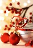 διακοσμήσεις Χριστου&gamm Στοκ Εικόνες