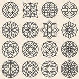 Διακοσμήσεις Arabesque Διανυσματικό πρότυπο σχεδίου λογότυπων αστεριών στο αραβικό ύφος ελεύθερη απεικόνιση δικαιώματος