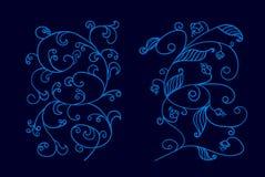 Διακοσμήσεις Doodle Στοκ Εικόνα