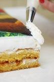 Διακοσμήστε το κέικ κρέμας στοκ εικόνες