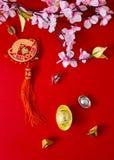 Διακοσμήστε το κινεζικό νέο έτος 2019 σε ένα κόκκινο υπόβαθρο (κινεζικοί χαρακτήρες Fu στο άρθρο αναφερθείτε στην καλή τύχη, πλού στοκ φωτογραφία
