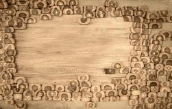 Διακοσμήστε το ξύλινο υπόβαθρο τοίχων με το διάστημα αντιγράφων στοκ φωτογραφία με δικαίωμα ελεύθερης χρήσης