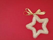 Διακοσμήστε το χρυσό αστέρι Στοκ Φωτογραφίες