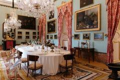 Διακοσμήστε το dinning δωμάτιο της Royal Palace Riofrio Segovia στοκ φωτογραφίες με δικαίωμα ελεύθερης χρήσης