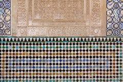 Διακοσμημένα κεραμίδια με τις γεωμετρικές μορφές στα χρώματα Alhambra Στοκ εικόνα με δικαίωμα ελεύθερης χρήσης