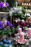 Διακοσμημένα κεριά εμφάνισης στοκ εικόνες με δικαίωμα ελεύθερης χρήσης