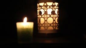 Διακοσμημένα κεριά απόθεμα βίντεο
