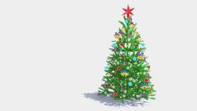 Διακοσμημένες πτώσεις χριστουγεννιάτικων δέντρων από τον ουρανό ελεύθερη απεικόνιση δικαιώματος