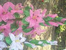 Διακοσμημένη με χάντρες λουλούδια τέχνη Στοκ Εικόνες